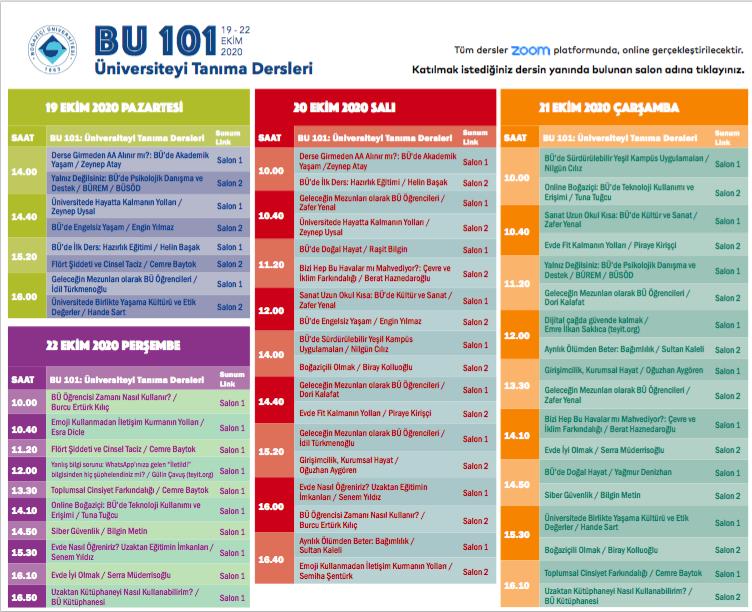 BÜ101 Program