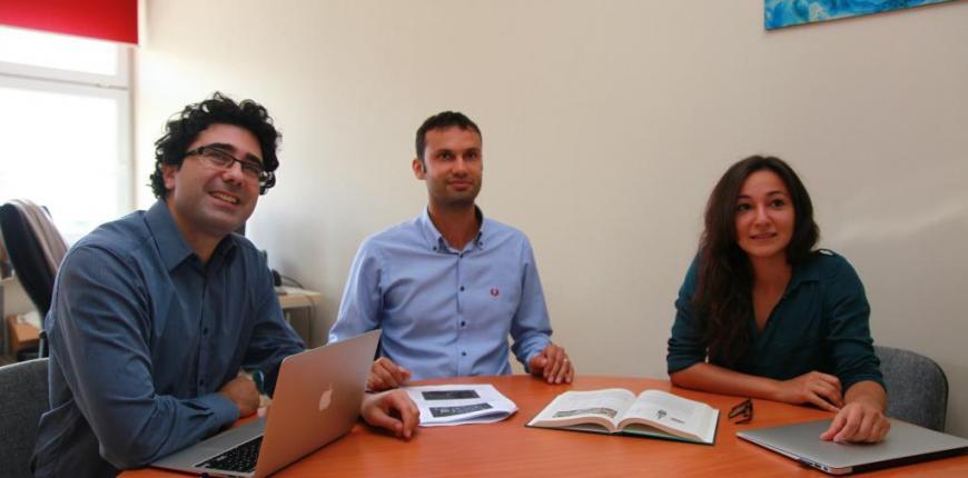 (Soldan sağa) Ali Salah, Heysem Kaya ve Gül Varol ile ödüllü projelerini konuştuk