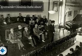 1948 akademik yılı açılışından bir kare...