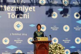Etkinlik rektör Prof. Dr. Gülay Barbarosoğlu'nun açılış konuşmasıyla başladı.