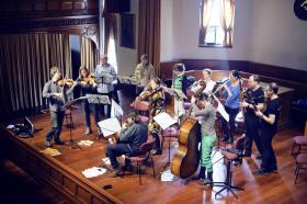 Camerata Salzburg Solistleri provasından... Fotoğraflar: KENAN ÖZCAN