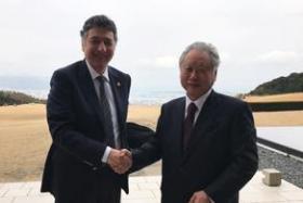 Mehmed Özkan ve Hiroshi Kito (Shizuoka Üniversitesi)