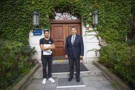 Saype, Boğaziçi Üniversitesi Rektörü Prof.Dr. Mehmet Özkan ile