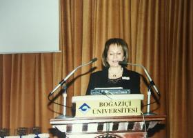 Ayla Karadeniz mezuniyet töreninde